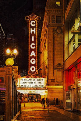 Painting - Chicago Theatre #1 by Sandy MacGowan