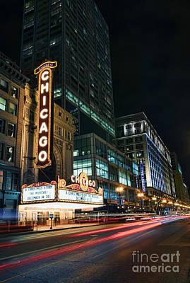 Photograph - Chicago Theatre by Eddie Yerkish