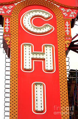 Photograph - Chicago Theatre Marquee Up Close by John Rizzuto