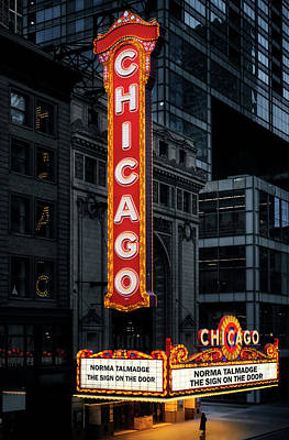 Photograph - Chicago Theatre Nostalgic Fine Art Featuring Norma Talmadge by Justin Kelefas