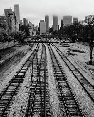 Chicago Tracks To The Foggy City  Art Print