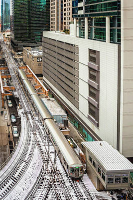 Photograph - Chicago Train Set by Andrew Soundarajan