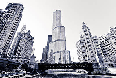 Trump Tower Photograph - Chicago Trump Tower And Wrigley Building by Paul Velgos
