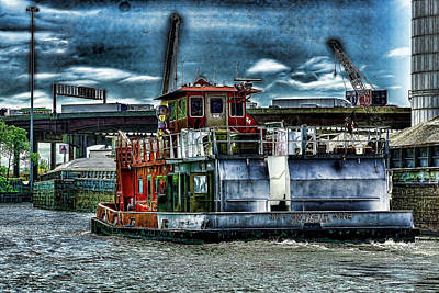 Photograph - Chicago Tug Boat Scene by Sven Brogren