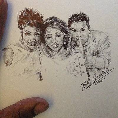 Chicago White Sox Drawing - Chicago Tv Personalities by Billy Jackson