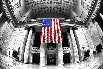 Photograph - Chicago Union Station Fusion by John Rizzuto