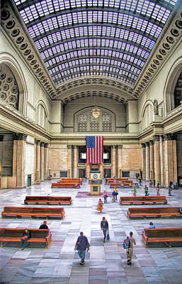 Painting - Chicago Union Station Grand Hall by Christopher Arndt