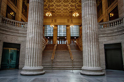 Union Station Lobby Photograph - Chicago Union Station Stairs by Mike Burgquist