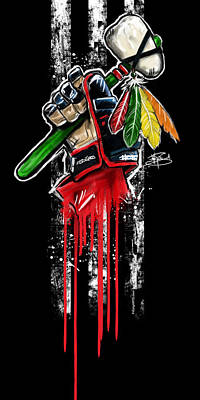 Stanley Cup Digital Art - Warrior Glove Origins by Michael Figueroa