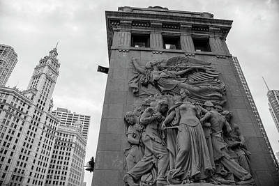 Photograph - Chicago Water Tower And Bridge by John McGraw