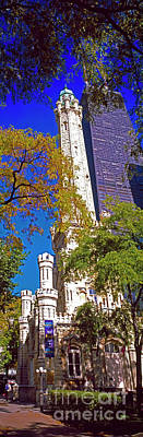 Photograph - Chicago Water Tower And John Hancock Building  by Tom Jelen