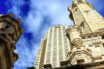 Photograph - Chicago Water Tower Angles by John Rizzuto