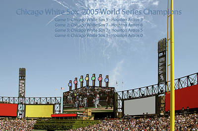 Scoreboard Mixed Media - Chicago White Sox 2005 World Series Champions 03 by Thomas Woolworth