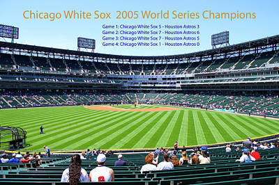 Mixed Media - Chicago White Sox 2005 World Series Champions 04 by Thomas Woolworth