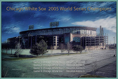 Mixed Media - Chicago White Sox 2005 World Series Champions by Thomas Woolworth