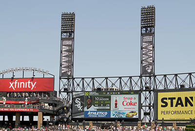 Chicago White Sox Mixed Media - Chicago White Sox Alc And Division Banners by Thomas Woolworth