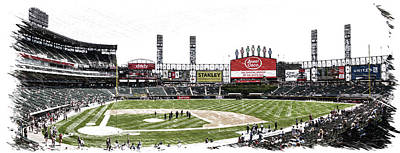 Chicago White Sox Family Day Panorama 04 Pa 02 Art Print
