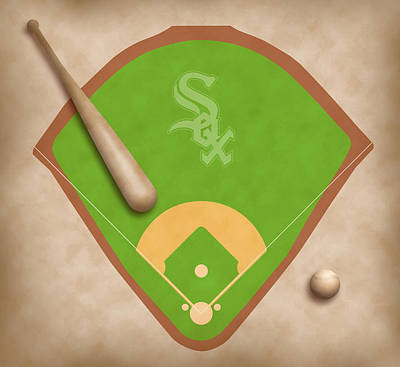 Second Base Digital Art - Chicago White Sox Field by Carl Scallop