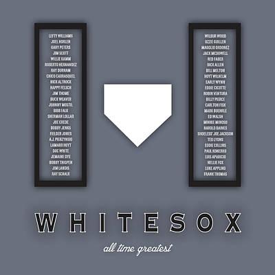 White Sox Digital Art - Chicago White Sox Art - Mlb Baseball Wall Print by Damon Gray
