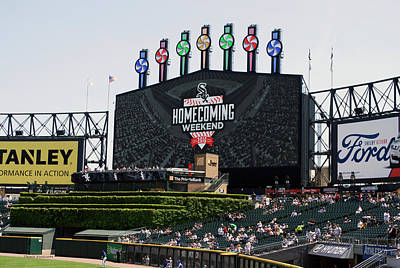 Chicago White Sox Mixed Media - Chicago White Sox Home Coming Weekend Scoreboard by Thomas Woolworth