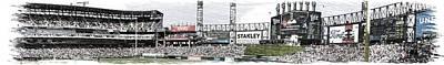 Chicago White Sox Pole To Pole Panorama 07 Pa 01 Art Print