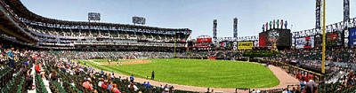 Horizontal Format Mixed Media - Chicago White Sox Pole To Pole Panorama 07 Pa 02 by Thomas Woolworth
