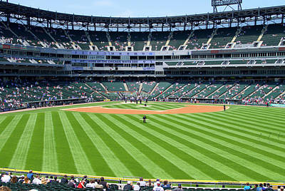 Chicago White Sox Mixed Media - Chicago White Sox Right Center Field View by Thomas Woolworth