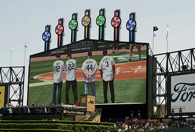 Chicago White Sox Mixed Media - Chicago White Sox Scoreboard Thank You 12 22 44 3 by Thomas Woolworth