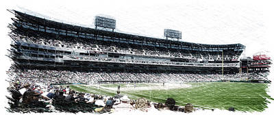 Horizontal Format Mixed Media - Chicago White Sox Seating Panorama 02 Pa 01 by Thomas Woolworth