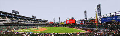 Horizontal Format Mixed Media - Chicago White Sox Seating Panorama 03 Pa 01 by Thomas Woolworth