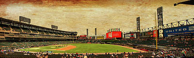 Chicago White Sox Seating Panorama 03 Textured Art Print by Thomas Woolworth