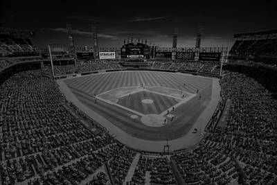 Photograph - Chicago White Sox Us Cellular Field Creative 3 Black And White by David Haskett