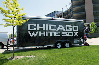 Chicago White Sox Mixed Media - Chicago White Sox Vendor Trailer by Thomas Woolworth