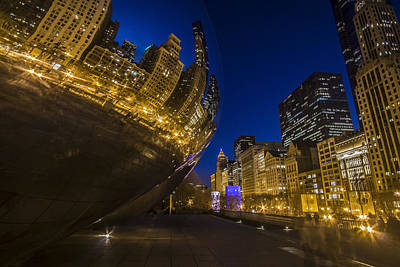 Chicago's Millenium Park At Dusk Art Print