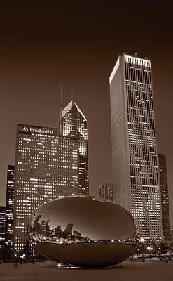 Chicagos Millennium Park Bw Art Print by Steve Gadomski