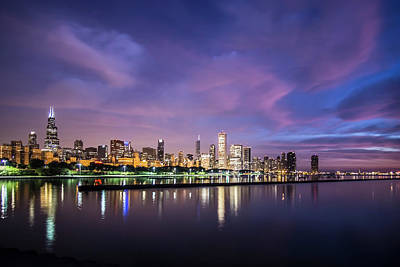 Chicago's Monroe Harbor At Dawn Art Print