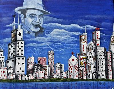 Midwest Artist Painting - Chicago's Most Wanted by Chloe Gertz