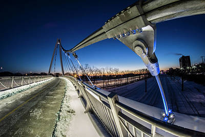 Chicago's New 35th Street Ped Bridge At Dawn Art Print