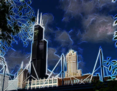 Chicago Digital Art - Chicago's Sears Tower by Chris Flees