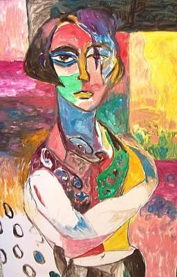 Painting - Chicflo by Mykul Anjelo