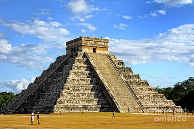 Photograph - Chichen Itza Pyramid by Charline Xia