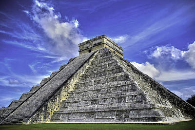 Art Print featuring the photograph Chichen Itza, El Castillo Pyramid by Jason Moynihan