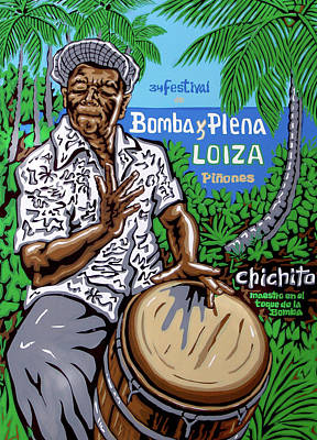 Bomba Painting - Chichito  by Samuel Lind
