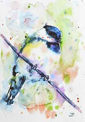 Painting - Chick-a-dee-dee-dee by Zaira Dzhaubaeva