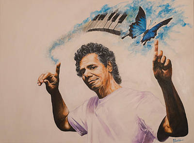 Painting - Chick Corea by Pascal Martos