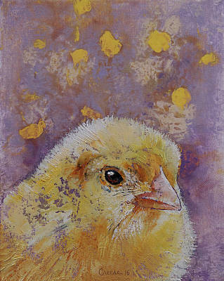 Chickens Painting - Chick by Michael Creese