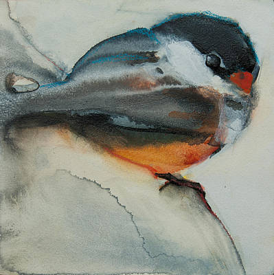 Painting - Chickadee 1 by Jani Freimann