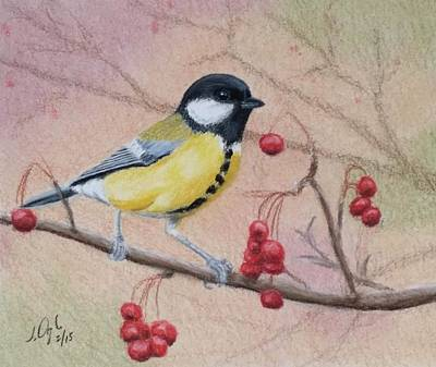 Painting - Great Tit by Joseph Ogle