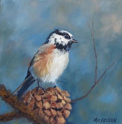 Painting - Chickadee 2 by Debra Mickelson