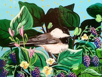 Painting - Chickadee Berry by Jennifer Lake
